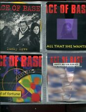 9 Ace of Base CDs w front art only in plastic car-carrier notebook carrier