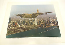 Vintage US Air Force PHOTO Print C-130  Hercules Aircraft over Chicago C Schoene