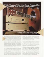 Conrad Johnson PV14L & EV1 Original Tube Preamps Brochure