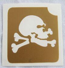GT4 Body Art Temporary Glitter Tattoo Stencil Skull & Crossbones Pirate Pirates