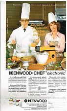 "Publicité Advertising 1978 Le Robot de Cuisine Kenwood-Chef ""electronic"""