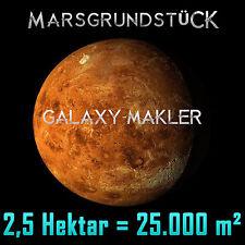 Marsgrundstück - Grundstück auf dem Mars 25.000 m² - Sterntaufe Mondgrundstück