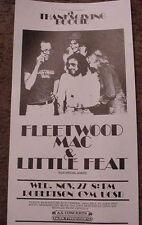 FLEETWOOD MAC LITTLE FEAT 1974 CALIFORNIA CONCERT POSTER 70'S ART  Mick 11.27