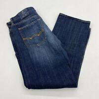 NWT American Eagle Denim Jeans Mens 33X32 Blue Straight Leg Medium Wash Zip fly