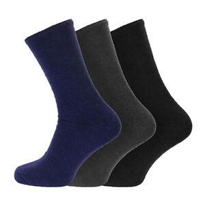 Men's Super Soft Luxury Brushed Warm Sleep Bed Socks Size 6-11 UK, 39-45 EU