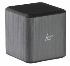 KitSound Cube Universal Portable Speaker With 3.5mm Jack 6 Hours Playtime Silver