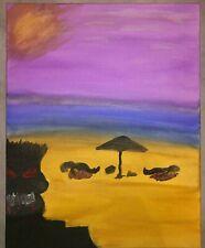 "Marc Lohraw - Oil on Canvas - 50x40 - Beach Murder"" - Certified"