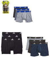 3 Pack Mens Adidas Climalite Performance Boxer Briefs Black Blue Grey Red