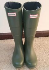 Women's Hunter target tall green boots 6 Rain Boots