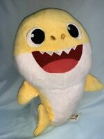 "WowWee Singing Baby Shark Yellow 12"" Plush Stuffed Toy Shark Pink Frog 2018 (6)"