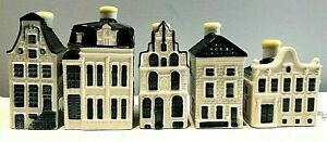 Lot 5 BOLS KLMDelft Decanter Miniature Canal Houses #9 22 26 90 91 SHIPS FAST