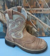 ariat ATS  brown leather boots 6 B