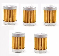 5 Pack Fuel Filter Element Cruiser Chopper Washable Petrol Bobber Victory Buell