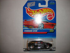 HOT WHEELS #443 FERRARI 348 BLACK 5HOLE MAL AM RED CARD FREE SHIPPING