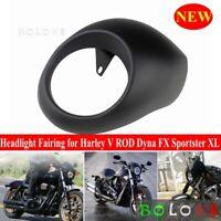 Matte Black Front Headlight Fairing Cowl for Harley V ROD Dyna FX Sportster XL