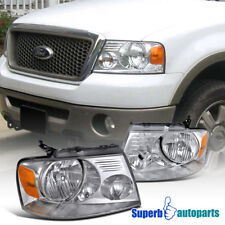 For 2004-2008 Ford F150 Headlights Head Lamps Pair Replacement