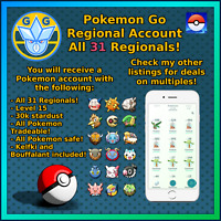 Regional - All Regionals in 1 account - GO Pokemon - Klefki Bouffalant!