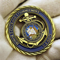U.S. Navy Honor Courage Commitment Anchors Commemorative CHALLENGE Coin Anchor