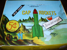 Vintage Space Rockets Cap Toys in Toy Store Display Box Sci Fi Rare MOC 1950's