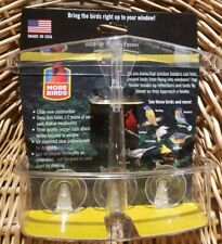 New listing Bird Observation Window Clear Plastic Feeder Made Usa Easy Clean 1/2lb Capacity