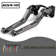 Motorbike CNC Alu Long Brake Clutch Adjustable Levers for SUZUKI GSX1400 01-07