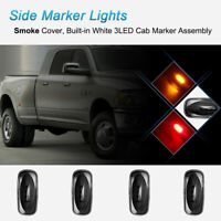 4* Smoke Lens Dually Side Marker Fender Lights Fit 2003-09 Dodge Ram 3500 Pickup