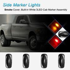 4* Smoke Lens Dually Side Marker Fender Lights Fit 2003-09 Dodge Ram 3500 Pickup