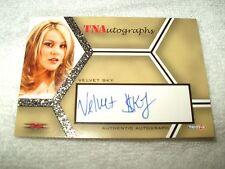 TNA Wrestling Autograph Card Knockouts Velvet Sky A-VS 2008