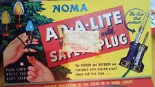 Empty - Vintage Noma Christmas Lights Box Great Graphics! Great For Crafting!