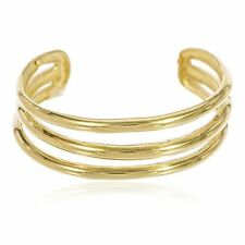 Real 14k Yellow Gold Three Wire Toe Ring