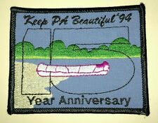 "Keep PA Beautiful '94 15 Year Anniversary Patch Pennsylvania  2 3/4"" by 3 1/2"""