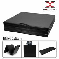 "2"" Thick Soft Folding Panel Gymnastics Mat GYM  Yoga Pilates Fitness Exercise"