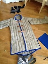 White & Blue Color Medieval Reenactment Gambeson New Jacket Halloween Gift