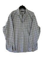 Peter Millar Mens XL L/S 100% Cotton Blue Check Button Down Shirt