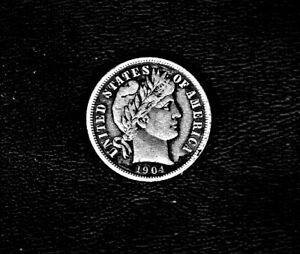 1904 Barber Head dime in .900 silver composition at E.F. condition