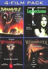 4-Films - Pumpkinhead II, Leprechaun, Wishmaster I & ll (DVD's, 2010) NEW!
