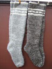 Long Socks LEG WARMERS hunting fishing natural goat down  yarn Russian craft