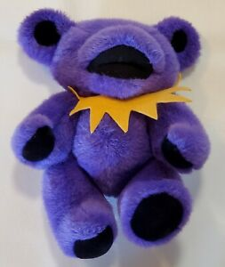 Grateful Dead Teddy Bear Purple Yellow Steven Smith Dancing Jerry Jointed 1990