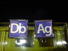 New Wurkin Stiffs Periodic Table Db Ag  Cufflinks  SOLD OUT