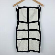 Rachel Gilbert Womens Cocktail Dress Size 2 (6-8) Linen Strapless Dress RRP $799