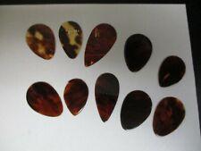 Vintage Sekova Guitar Picks-new'old stock',lot of 10,tortoise color unstamped