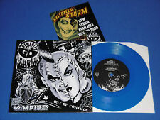 "Demented Are Go 7"" Hotrod Vampires Psychobilly Rockabilly Ltd.666, BLUE VINYL"