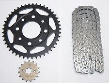 Kette Kettensatz DID Honda CB 125 F, GLR 125 Kettenschloss, Ritzel, Kettenrad