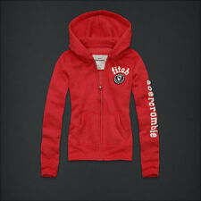 NWT ABERCROMBIE & FITCH KIDS REESE SWEAT HOODIE JACKET CORAL COLOR SIZE XL