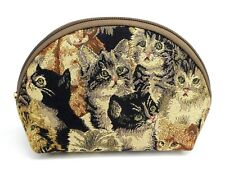 Kitty Cat Travel Makeup Bag Cute Cosmetic Bag Pouch Toiletry Tapestry Bag