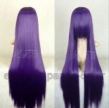 wigs Beau Haute qualité Femmes 100cm violet long droit perruque de cheveux
