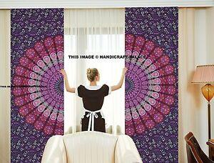 Mandala Indien Onglet Haut Rideaux Salle à Manger Rideau Panneau Écharpe Bohème