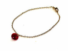 Bijou alliage doré lucite rouge bracelet bangle