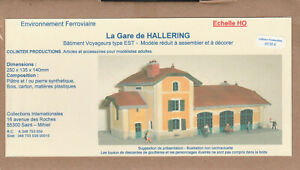 Colinter Productions -  maquette Echelle HO - La gare de Hallering