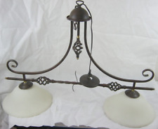 VINTAGE ISLAND LIGHTING 2 LIGHT CHANDELIER IN BRONZE FINISH
